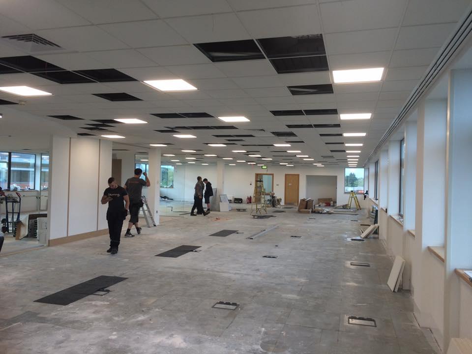 commercial office refurbishment led