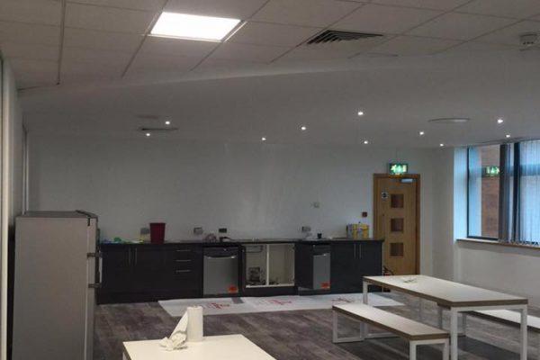 Commercial Office LED Lighting Installation