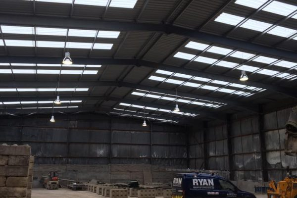 Industrial High Bay Lighting Installation
